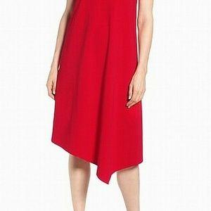 NIC+ZOE Red  Sleeveless Asymmetrical Shift Dress